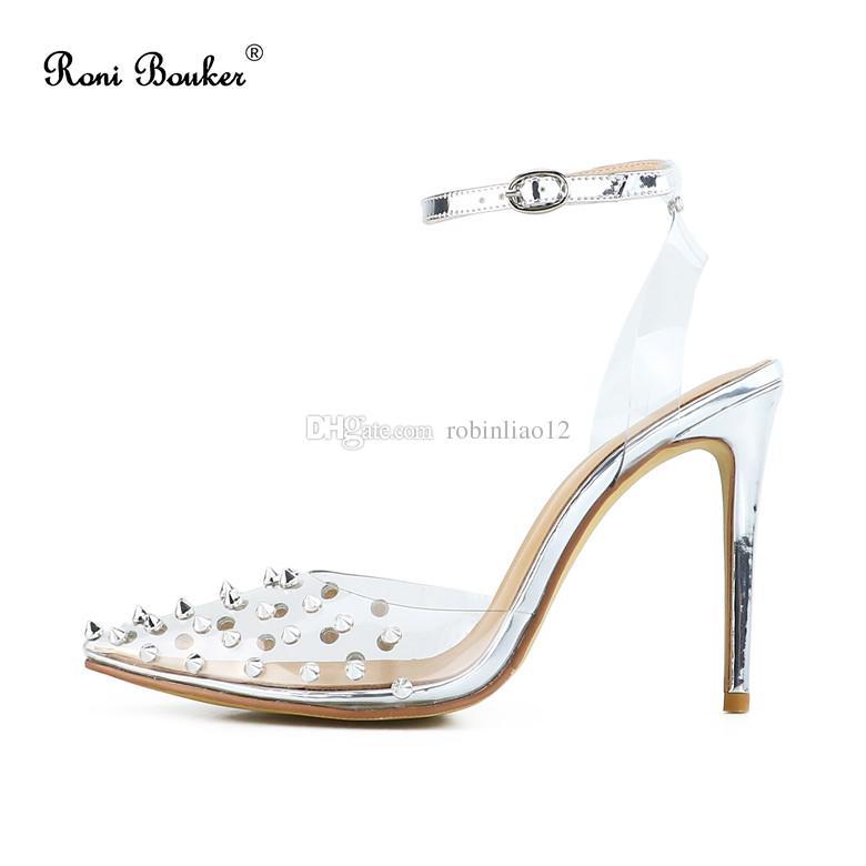 Women Stiletto Heel Sandals 2019 Hot Sale Buckle Strap High Heels ... df941b86d2f2