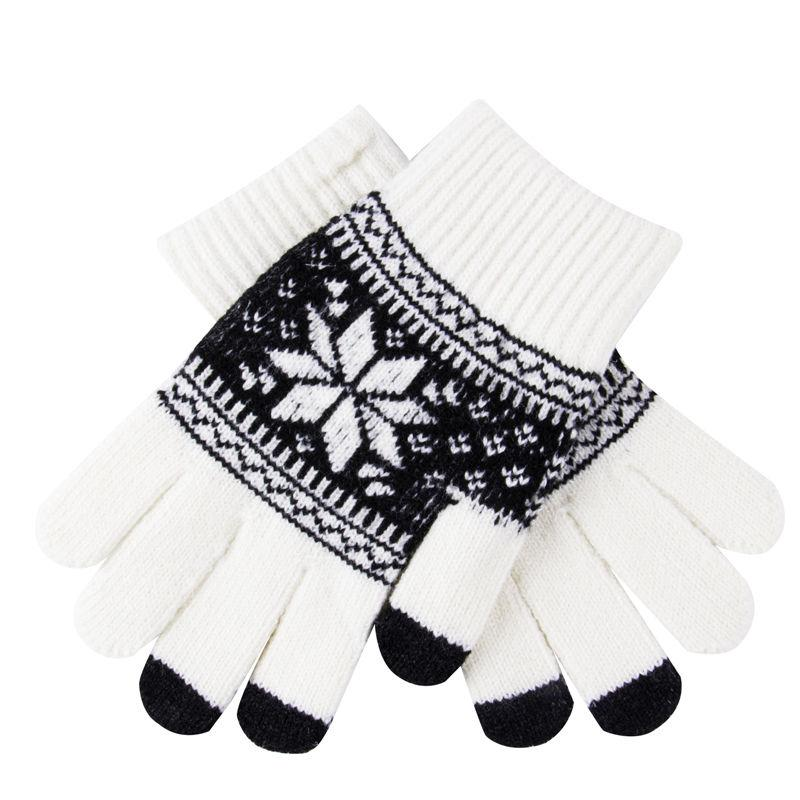 5 Style Soft Warm Winter Men Women Touch Screen Gloves Texting Capacitive Smartphone Knitted