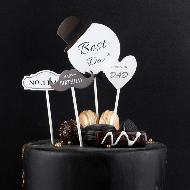 Grosshandel Best Dad Happy Birthday Cake Topper Sets Ich Liebe Papa Papier Kuchen Top Dekoration Fur Vater Geburtstagsfeier Liefert Von Fridayinternational