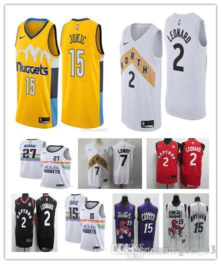 huge selection of bb6e1 70498 Men's Toronto Kawhi Leonard Jersey Vince Carter Tracy McGrady Jamal Murray  Kyle Lowry Denver Nikola Jokic basketball jerseys