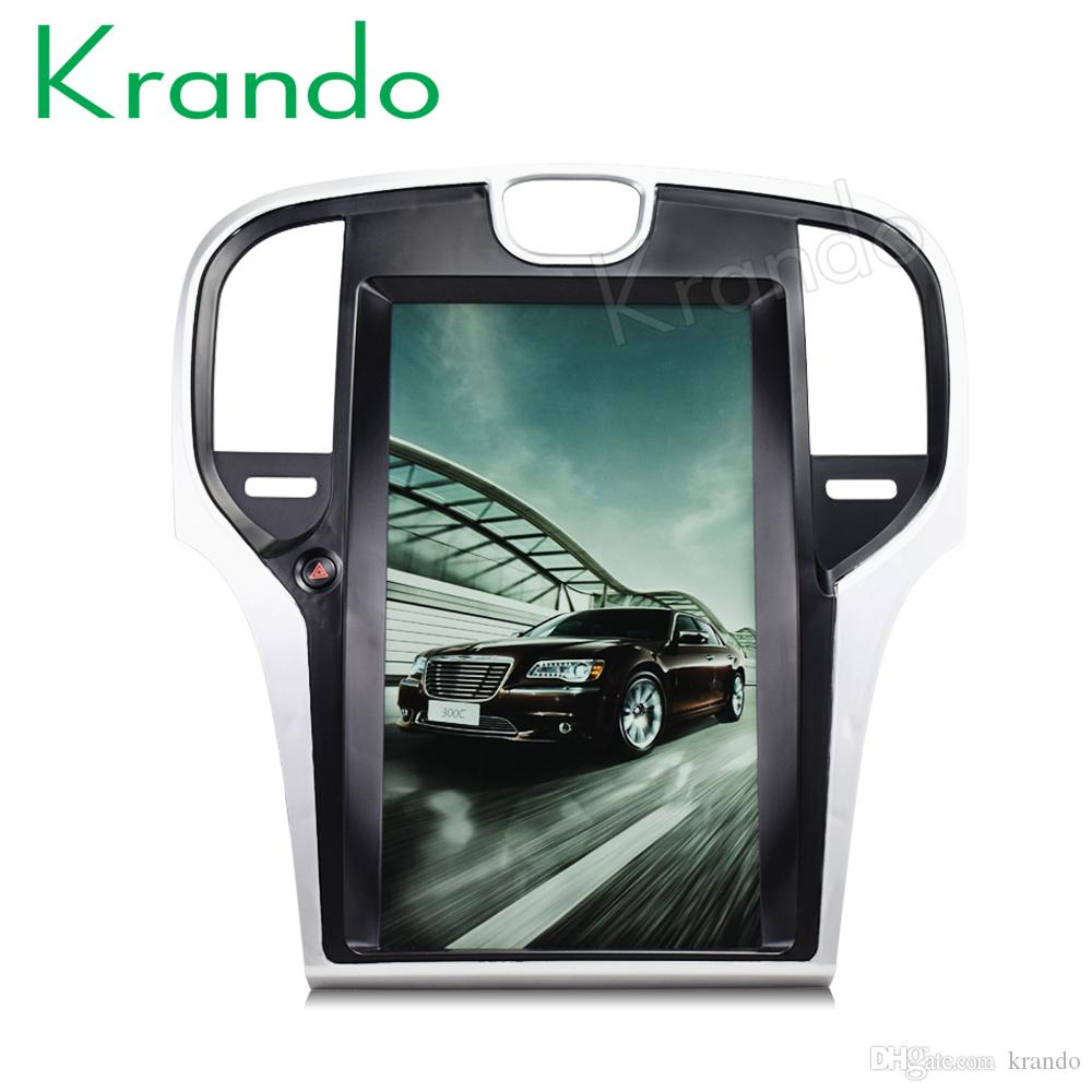 Krando Android 6 0 12 1 Tesla Vertical screen car dvd radio for Chrysler  300C 2013-2018 gps navigation multimedia system WIFI