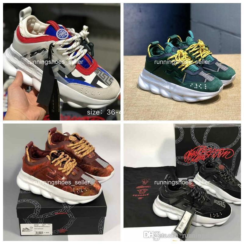 new arrivals a0811 aed16 Versace Chain Reaction Designer Shoes Casual Zapatillas De Deporte  Zapatillas De Deporte De Moda Casual Zapatillas Ligeras Con Suela En  Relieve Con Bolsa ...