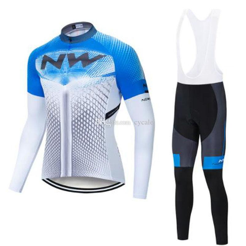 Pro team NW cycling jersey 2019 bicycle clothing ropa ciclismo Coolmax GEL Pad long sleeve bike jersey bib/pants set