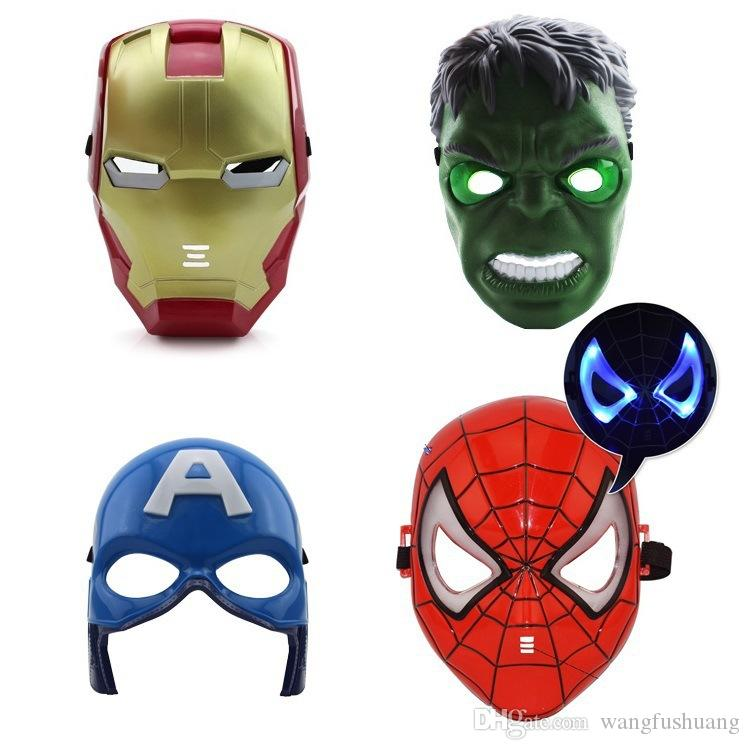 The Avengers Mask Superhero Masks Kids Spiderman Iron Man Hulk Cartoon Party Mask for Children's Day Cosplay