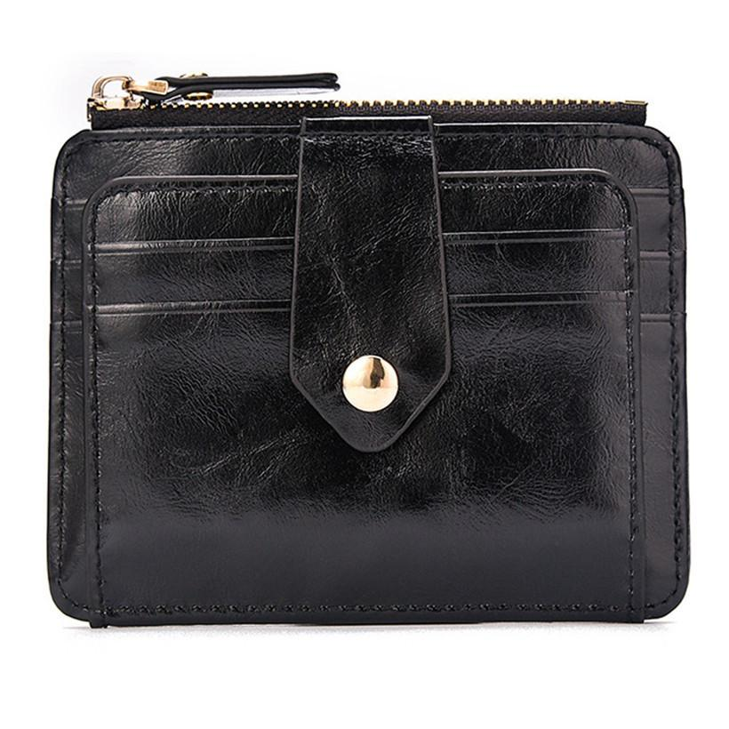 Brand Fashion Quality Leather Thin Wallet Men Blocking Short Wallet Coin Card Holder Purse With Coin Pocket Male Money Bag