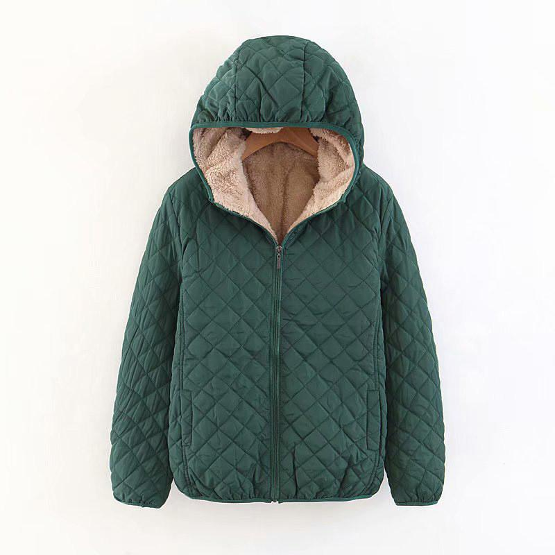 b57e23e855106 Warm Winter Women's Hoodie Coat Size Color Candy Cotton Quilted Jacket  Parka Long Woman Wadded