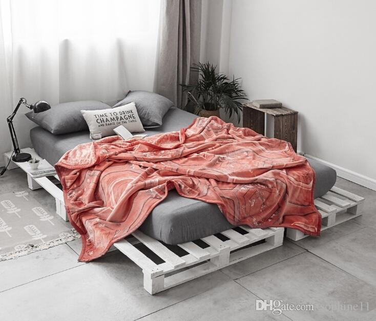 d12aa15efa Luxury Blanket Warm Fleece Soft Sleeping Bed Blanket Bedspread Blanket For  Sofa Bed Car Portable Plaids Egyptian Throw Blanket Big Warm Fuzzy Blankets  From ...