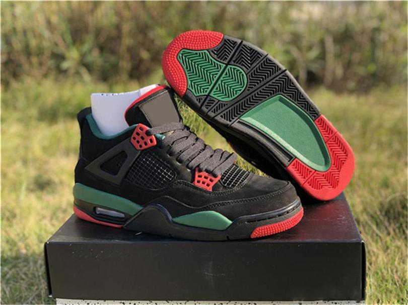 the latest e5071 d94df Wholesale 2019 4 IV NRG Black Pizzeria For Men Basketball Shoes Black Red  Green Suede AQ3816 163 Authentic Sneakers With Box Shoes On Sale Cheap  Sneakers ...