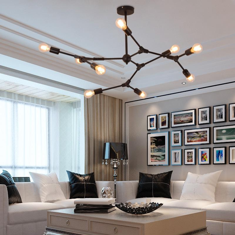 Nordic living room chandelier simple modern chandelier restaurant lamp  creative personality clothing store molecular