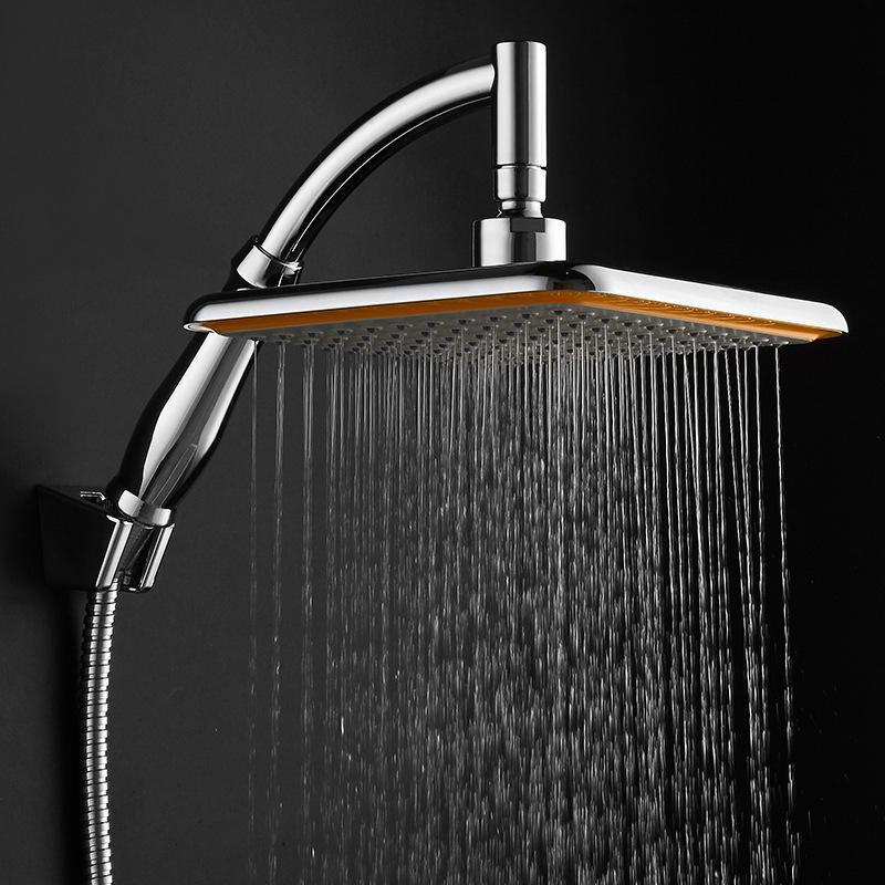 2019 ABS Chrome Square Thin Rotatable Top Rain Shower Head Wall Mounted  Water Saving Pressure Spray Shower Bath With Water Hose From Almondor, ...
