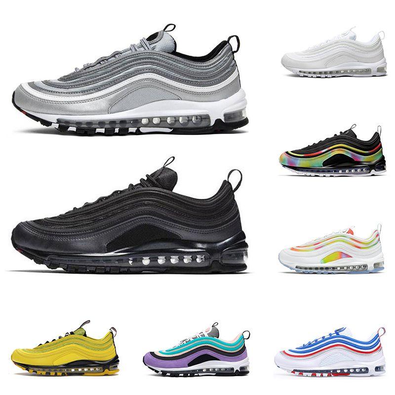 2020 nike air max 97 hombres mujeres zapatos para correr triple negro Silver Bullet Tie Dye Bright Citron invicto RED LEOPARD para hombre entrenador