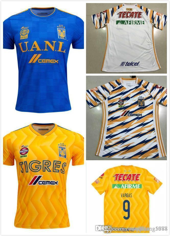 440e9ee02 2019 New 2018 2019 Tigres UANL Soccer Jerseys Thai Quality Men Kit 18 19  Mexico Club Maillot De Foot Home Away 3rd 6 Star GIGNAC Football Shirts  From ...