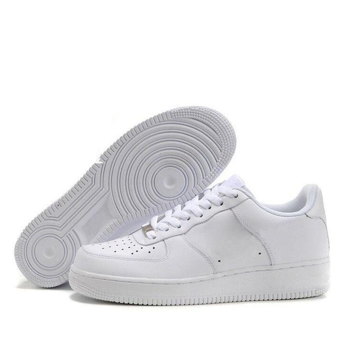 Nike Air Force One Designer Um 1 Dunk Das Mulheres Dos Homens Flyline Tênis de Corrida Esportes Skateboarding Ones Sapatos de Alta Low Cut Preto
