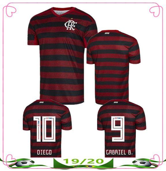 low priced 191c6 2eeaf NEW 2019 2020 CR Flamengo soccer jersey GUERRERO DIEGO VINICIUS JR Soccer  Jerseys Flamengo camisa de futebol football shirt