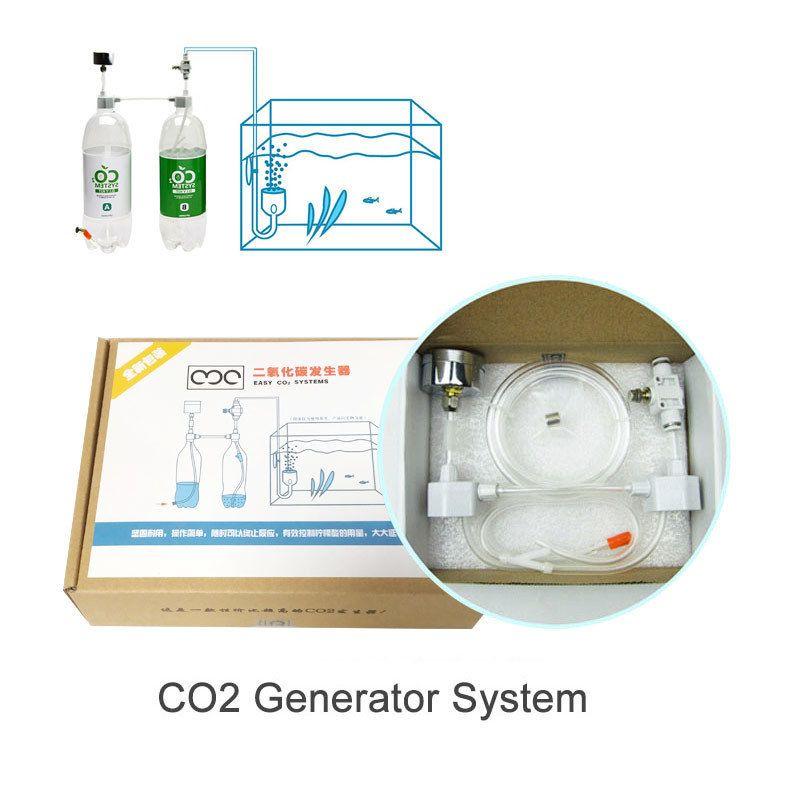 Aquarium Fish Tank Diy Co2 Generator System Water And Straw Cylinder  Pressure Air Flow Adjustment Co2 Valve Diffuser