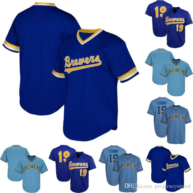 29456557 2019 Milwaukee 19 Robin Yount Jersey 100% Stitched Mens Womens Youth Brewers  Retro Baseball Jerseys S XXXL From Projerseysword, $24.78 | DHgate.Com