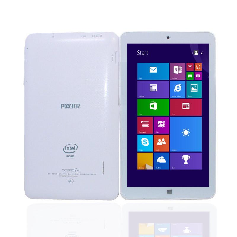 Glavey 7inch MOMO7 Window 10 Tablet PC 1GB 8GB Quad core intel Atom Z3735  1024*600pixes WIFI HDMI Single camera white tablet