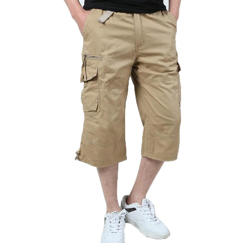 Military Cargo Shorts Men Summer Multi Pocket Short Masculino Mens Casual Cotton Cropped Trousers Tactical Jogger Loose Shorts