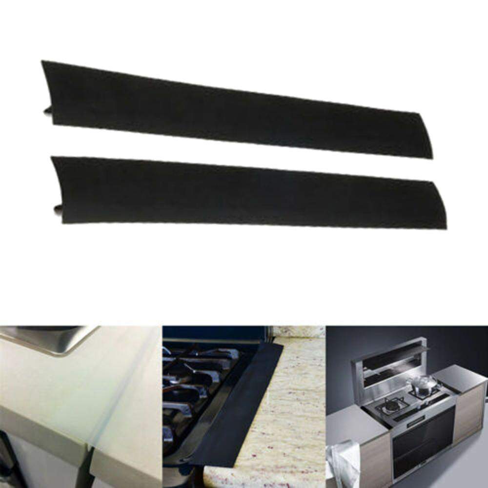 21 Inches Flexible Stove Counter Gap Cover Silicone Rubber Kitchen Oil-gas Slit Filler Heat Resistant Mat Oil Dust Water Seal