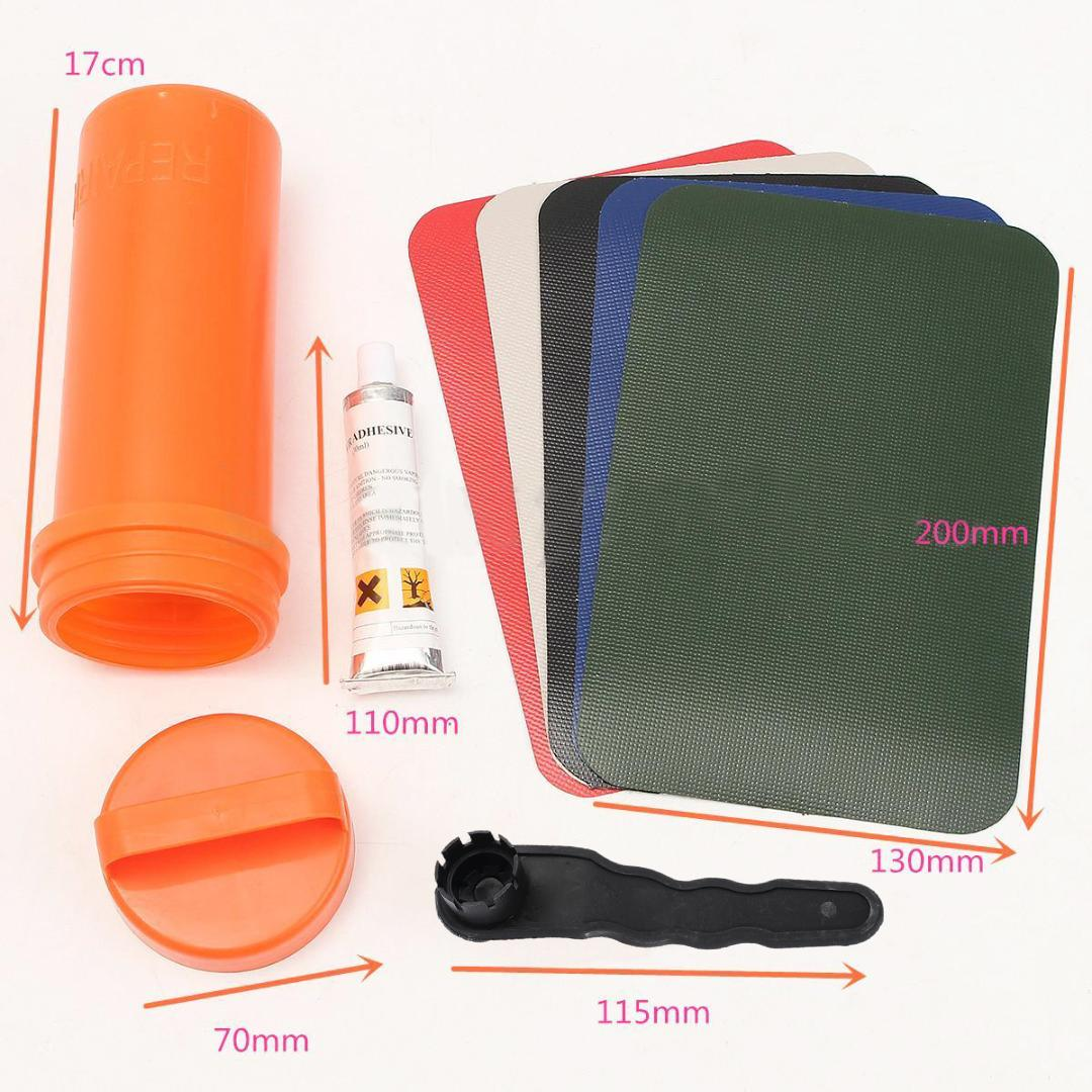 Inflatable Boat Swimming Pool PVC Puncture Repair Patch Glue Kit Adhesive  Canoe Kayak Rowing Boats Parts Accessories