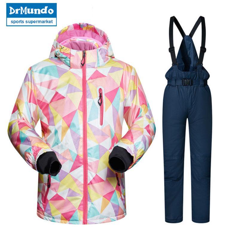 5537d169c685 Kids Ski Suit Children Brands Windproof Waterproof Warm Girls And ...