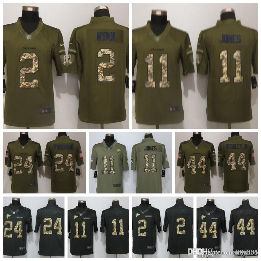 finest selection fe3bf 60fa8 Men Atlanta Falcons Camouflage Jersey #11 Julio Jones 2 Matt Ryan 24  Devonta Freeman 18 Ridley 21 Deion Sanders Football Jerseys