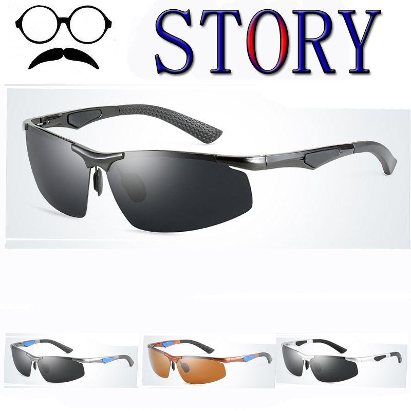 30fc0f2cae4 Aluminum Magnesium Alloy Polarized Sunglasses Windproof Outdoor Driving  Fishing UV400 For Male Sun Glasses Lentes De Sol Hombre Police Sunglasses  Serengeti ...