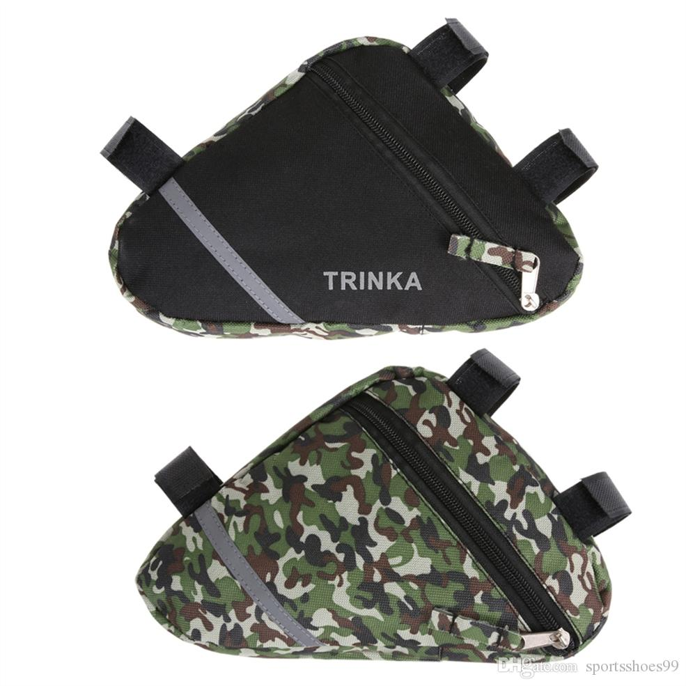 Bicycle Bag Front Mountain Bike Triangle Frame Tube Bags Army Tactical  Camouflage Black Pouch Bicycle Accessories #79506