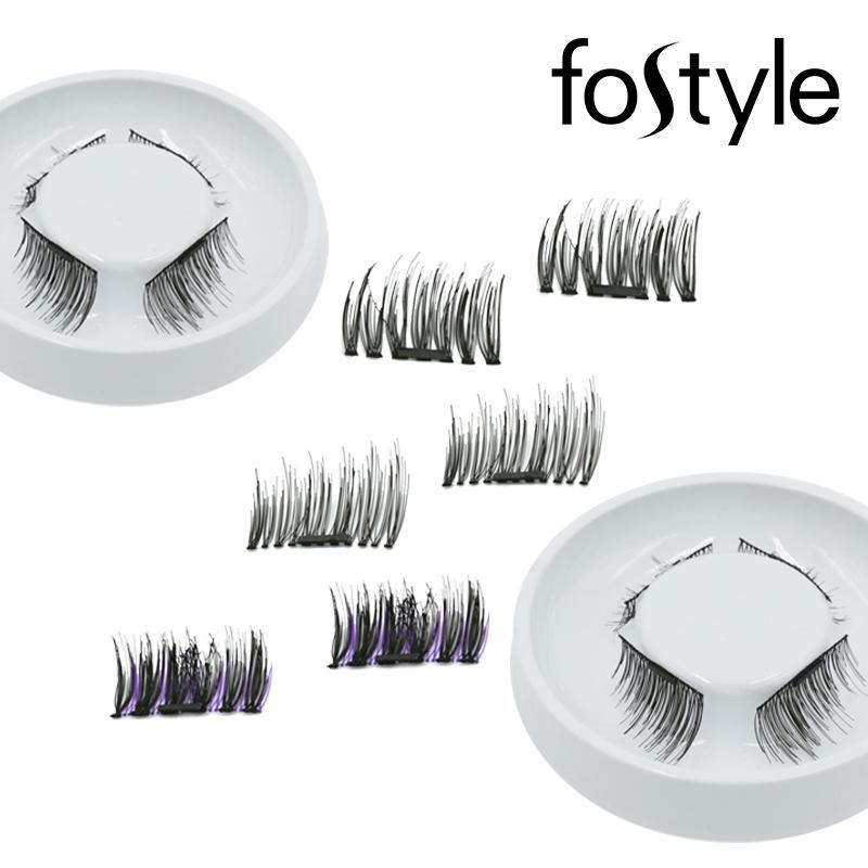 4pcs Eye Makeup Magnetic Eyelashes Mink Strip Natural False Lashes  Extension Supplies Magnetic Eyelash Extension Tools Make Up