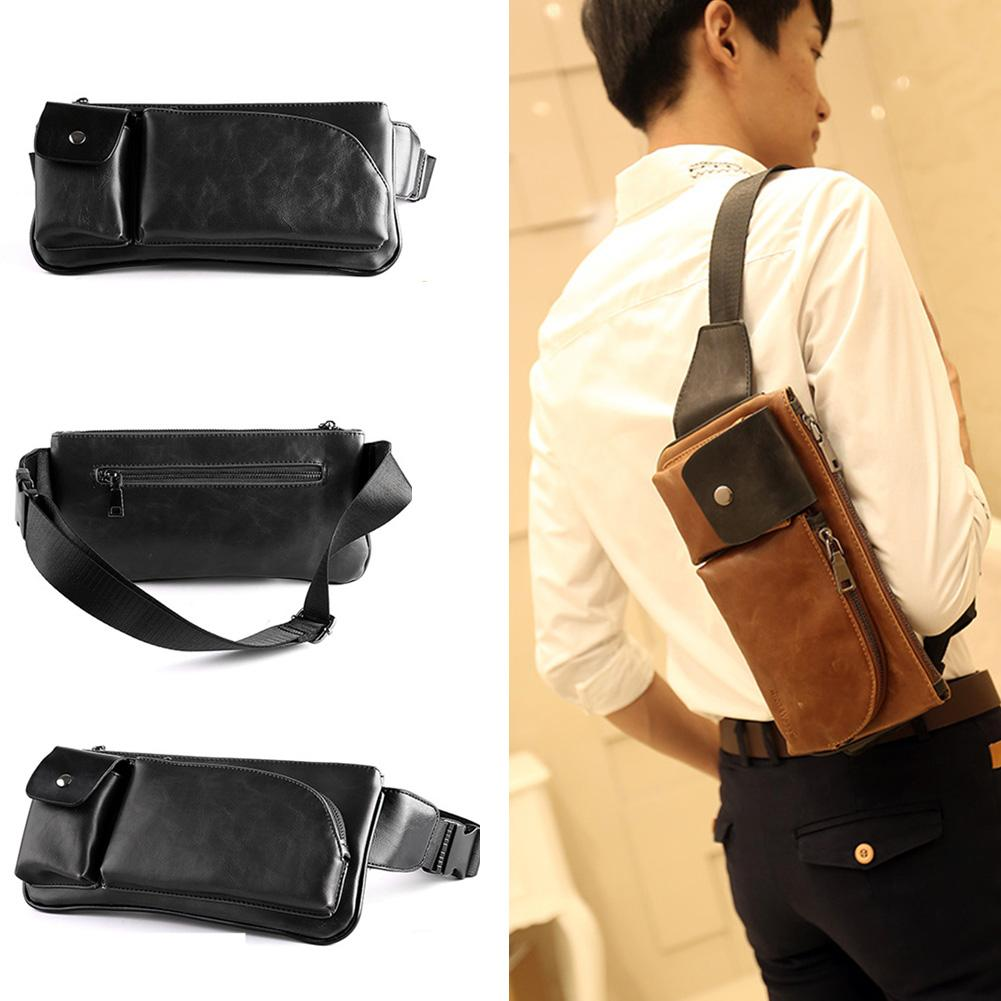 Men Bags Faux Leather Chest Pack Travel Messenger Cross Body Phone Wallet  Bags Ladies Handbags Book Bags From Dryaet e0ef2489b3ee6