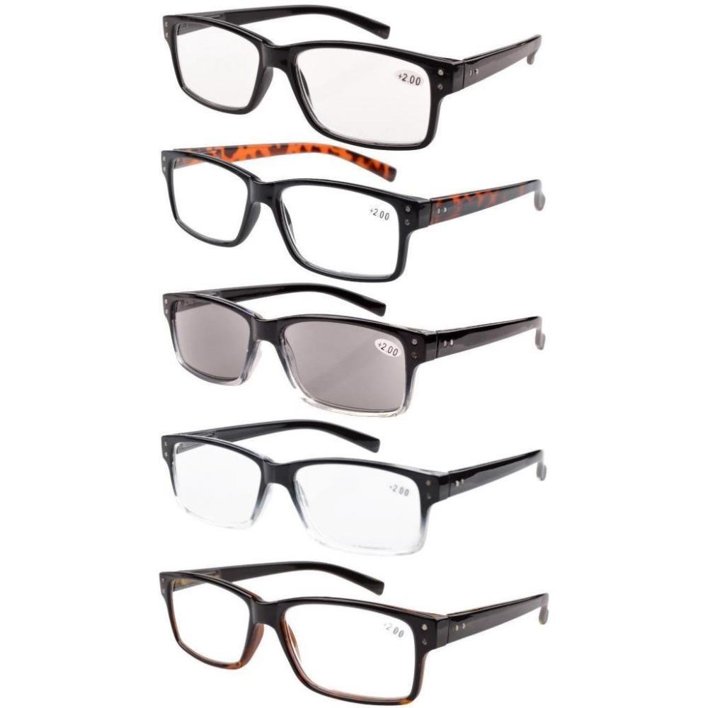 243b7514400a R032 Eyekepper 5 Pack Spring Hinges Vintage Reading Glasses Men ...