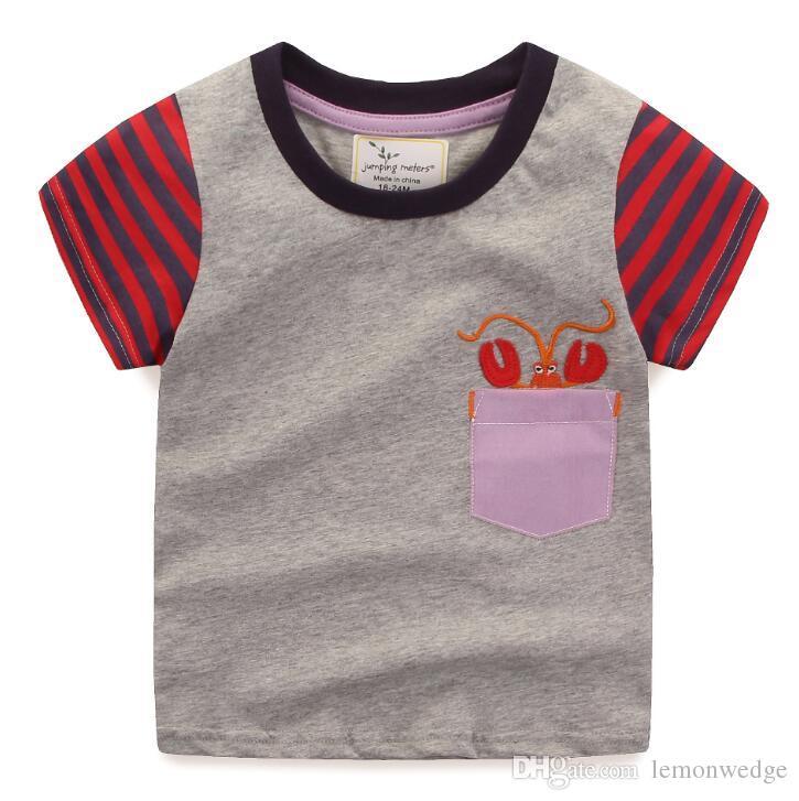 30de7ed0bc7 2019 2019 Summer Kids T Shirt Tops Baby Boy Cotton Short Sleeve Shirts  Children Cartoon T Shirt Tees Clothes From Lemonwedge