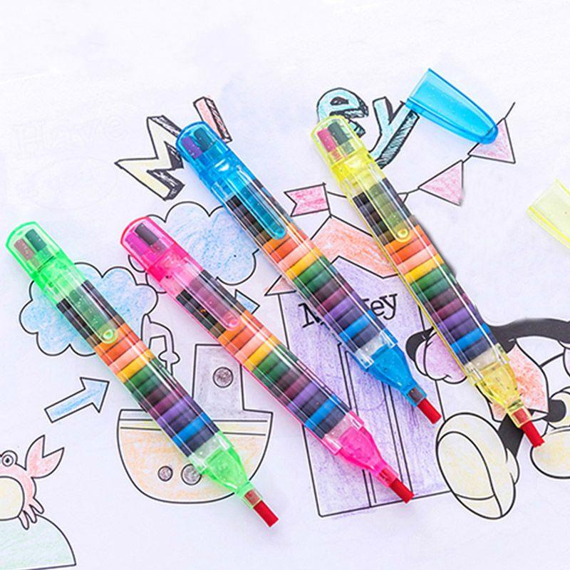 Satın Al çocuk Boyama Oyuncaklar 20 Renkler Balmumu Mum Boya Bebek