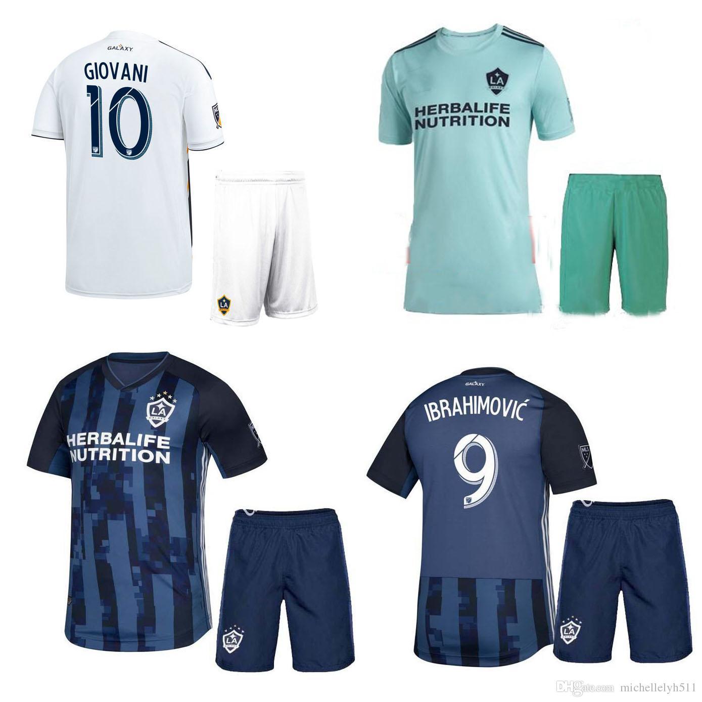5b0f28fba 2019 2019 LA Galaxy Soccer Jersey Shorts 19 20 Ibrahimovic GIOVANI Football  Shirts Los Angeles Galaxy Home Football Sets Away Soccer Uniforms From ...