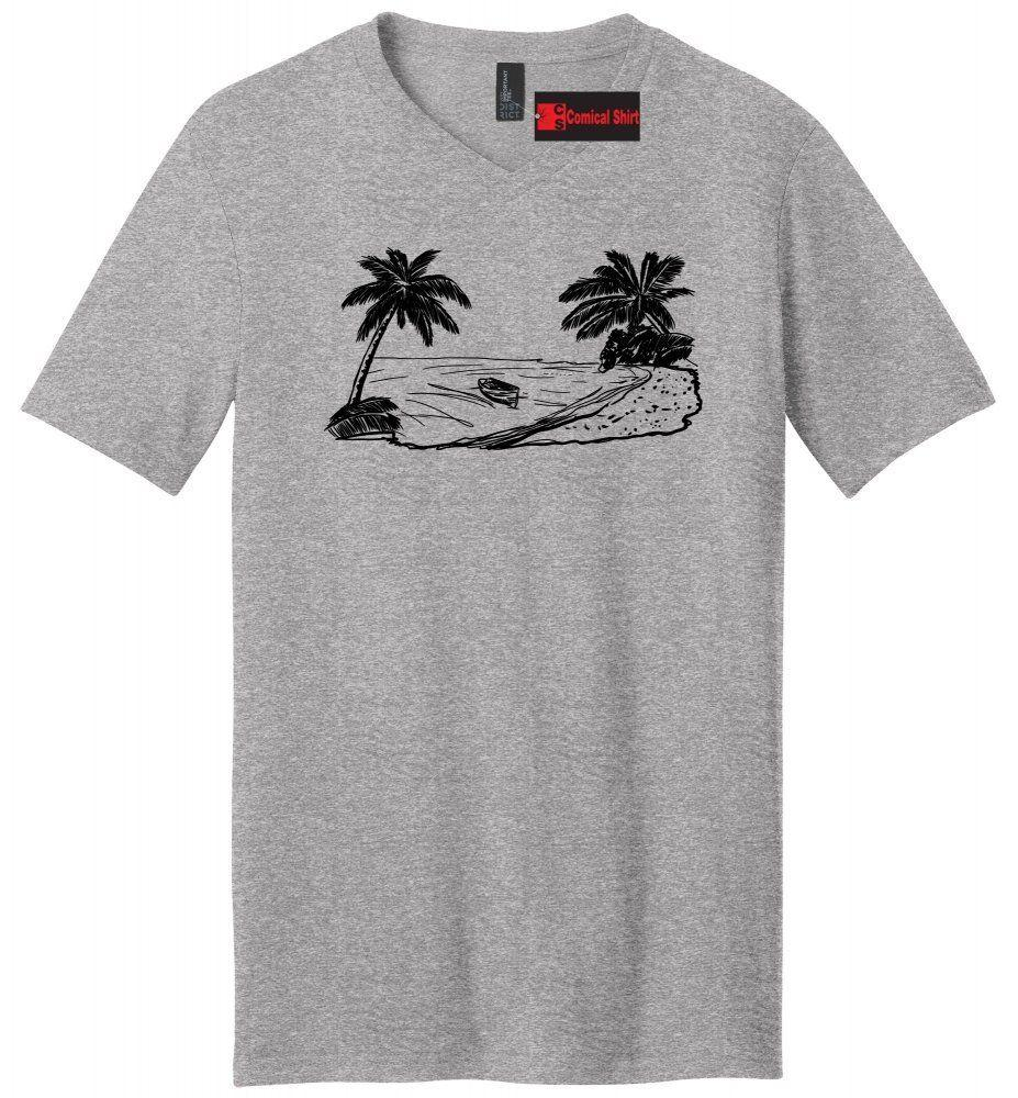 307fd735784 Beach Scene Graphic Mens V Neck T Shirt Vacation Cruise Island Summer Party  Tee Men Women Unisex Fashion Tshirt Business Tee Shirts Printing Coolest T  ...