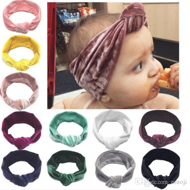New Baby Girls Velvet Knot Headbands Kids Head Bands Children Hair  Accessories Head Wrap Lovely Cute Infant Headbands Fashion Hair Accessories  Japanese Hair ... 0d9c671a220