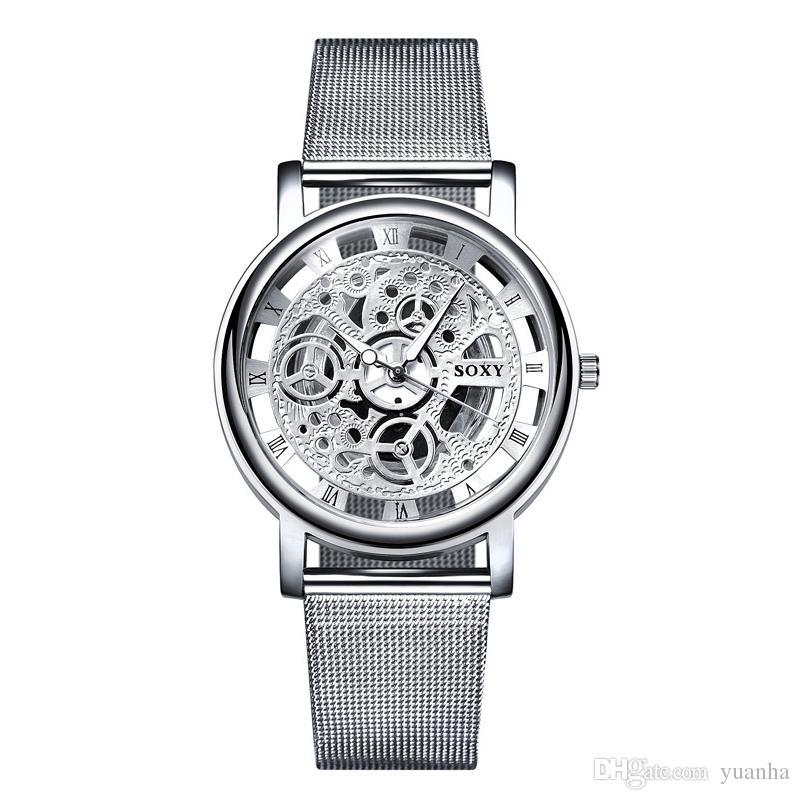 Cuarzo Huecos Por Negocios Al Reloj Relojes Lujo Hombre De Regalo Malla Accesorios Correa Mayor Moda OPwXnkN80