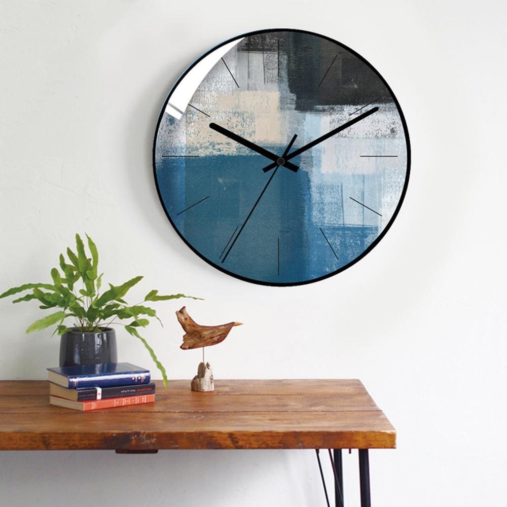 30 CM Orologi da parete Design moderno Orologio creativo Minimalista  Soggiorno Orologi da sospensione Comodino Orologio da parete muto Home Decor