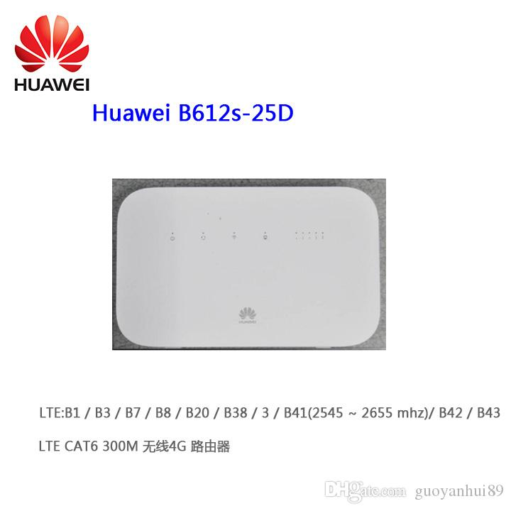 Unlocked Huawei B612 B612s-25d Router 4G LTE Cat6 300Mbs CPE Router 4G  Wireless Router Plus Antenna