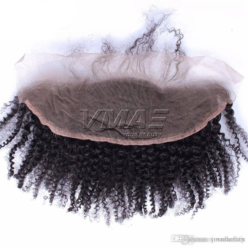 "Peruvian 13*4 Afro Kinky Curly Hair Closure Ear to Ear Lace Closure 8""-20"" Human Lace Hair Closure VMAE HAIR"