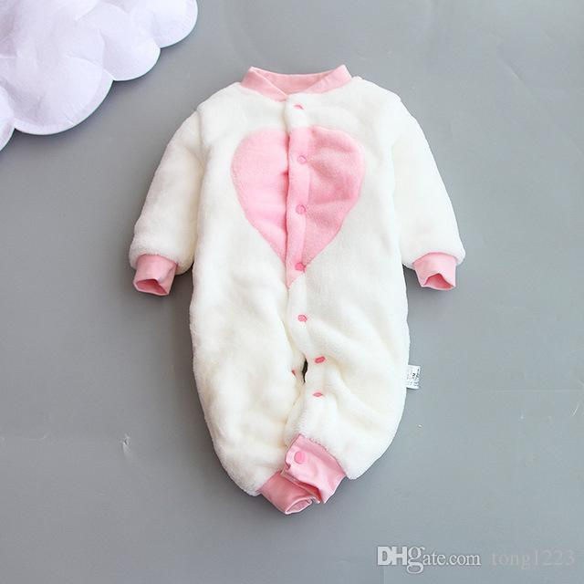 New Baby Winter Romper Cotton Padded Thick Newborn Baby Girl Warm Jumpsuit Autumn Fashion Baby's Wear Kid Climb Clothe
