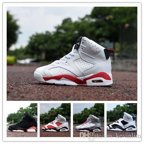 brand new 6d51d 72c3d Acheter 2019 Chaussures Enfants Baskets En Gros Nouveau 1 Espace Jam 6 11s  13 Sneakers Enfants Sports Running Fille Garçon Formateurs Chaussures US  11C 3Y ...