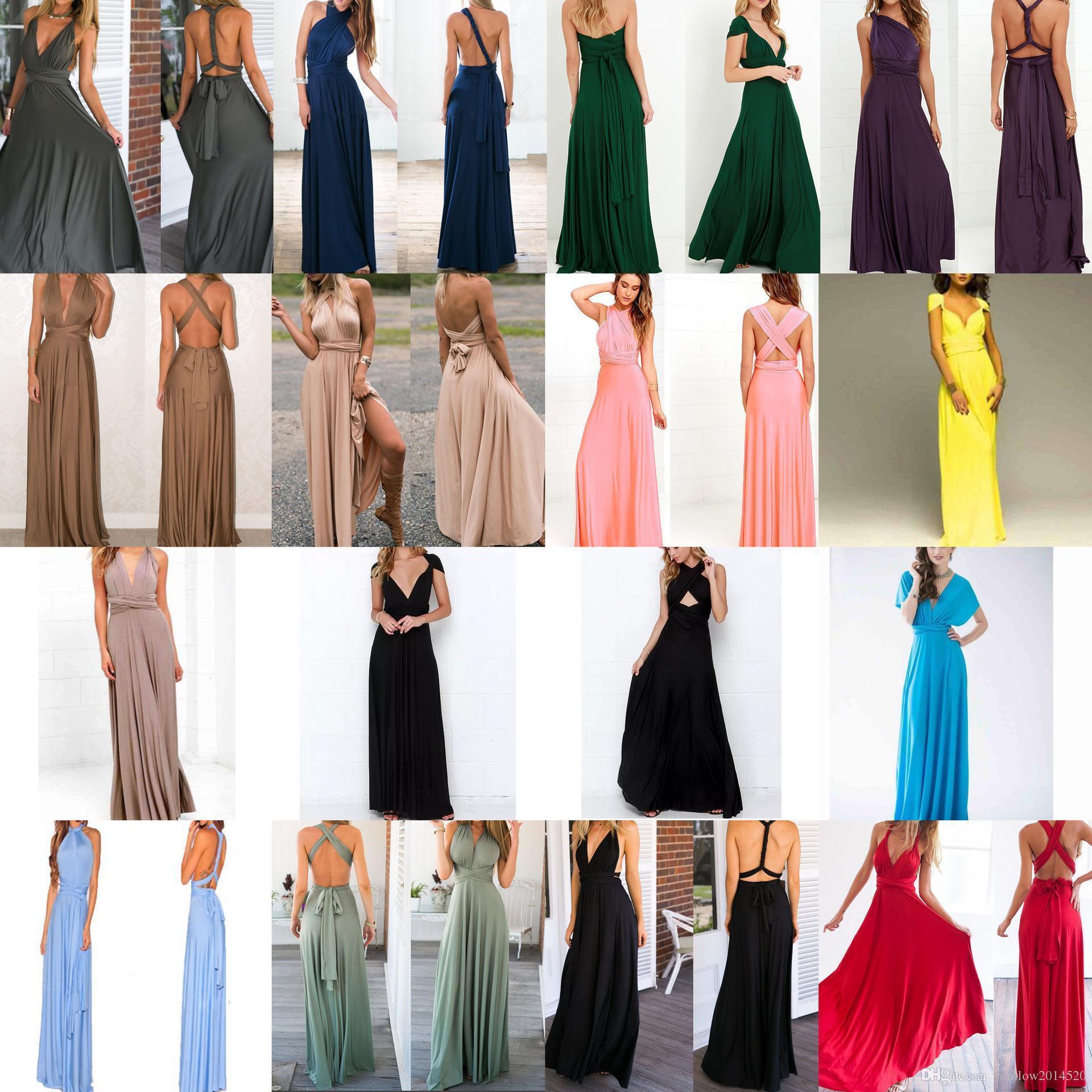 Wrap Verano De Varios Playa Roja Atractivo Convertibles Vendaje Vestidos Infinity Del Mujeres Maxi Las Vestido Robe Largo lTKcF1J