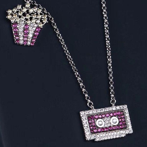 a704601e128c4 Crystal Diamond 80s Necklace Women s Sweater Chain Accessories