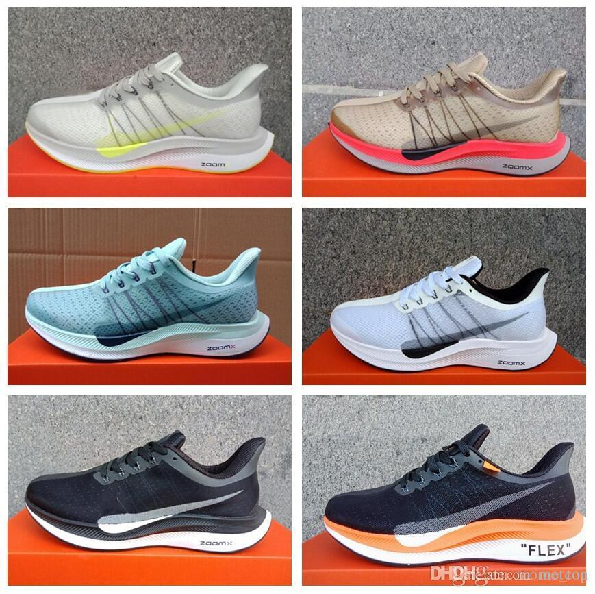 sale retailer a0bf5 61457 2019 New Zoom Lunar Landing 35 Breathable Net Gauze Running Shoes Originals  Zoom Pegasus 35 Turbo Lining Air Cushion Casual Shoes