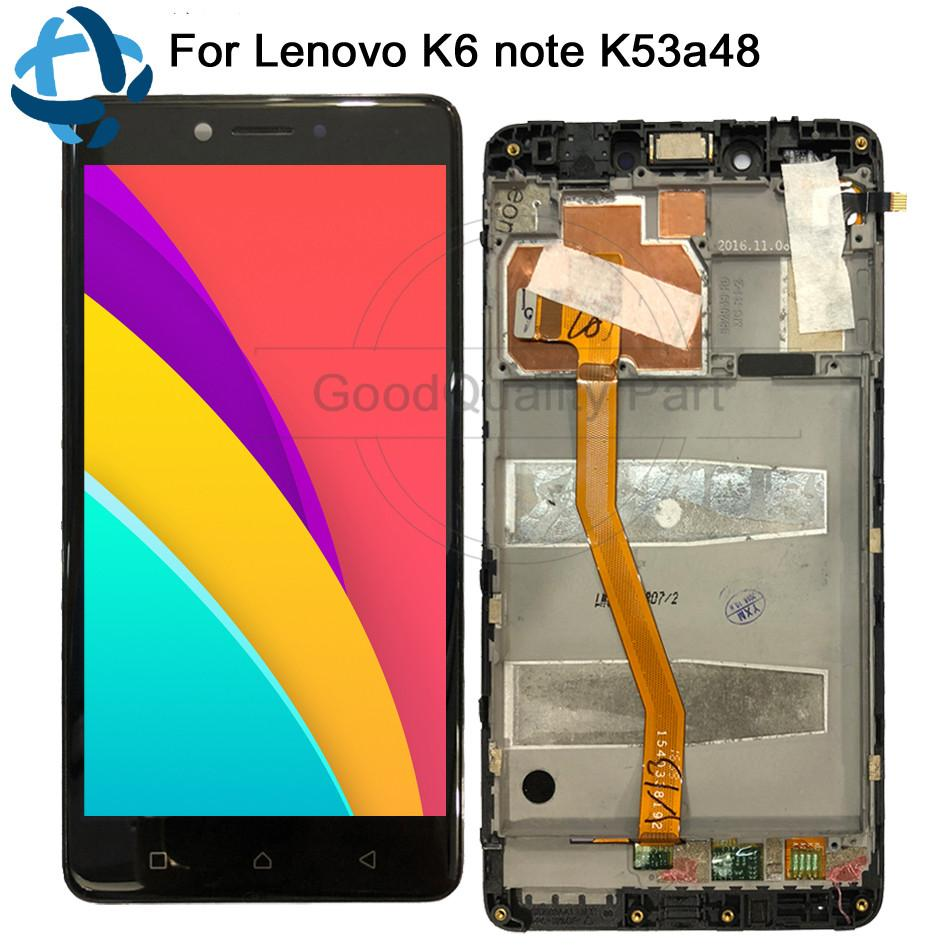 5 5 For Lenovo K6 NOTE LCD Display Touch Screen Digitizer Replacement For  Lenovo K6 NOTE Display k53a48 LCD Assembly 100% tested