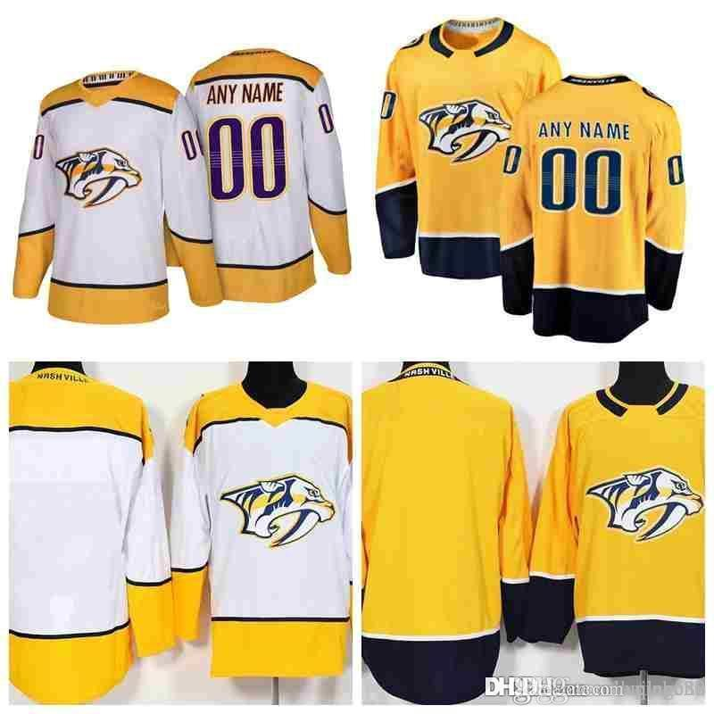 Stitched Custom Nashville Predators Mens Womens Youth Kid OLD BRAND  Customized Yellow White Personalized Gold Ice Hockey Navy Jerseys S 3XL UK  2019 From ... f9b05842c