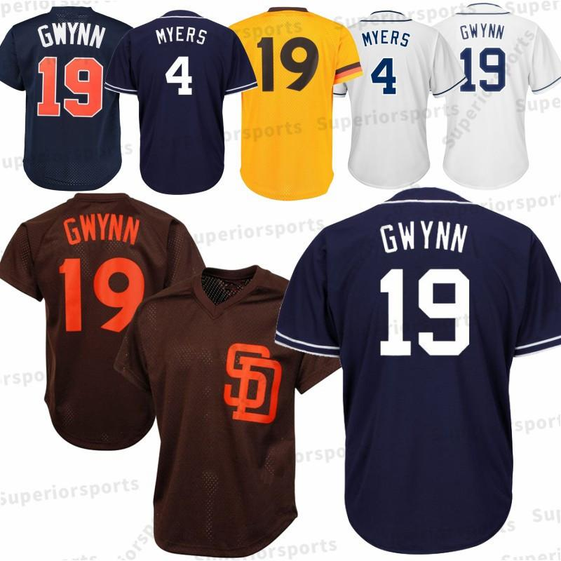 ... get san diego padres mens 19 tony gwynn jerseys 4 wil meyers embroidery  logos baseball jerseys coupon code gwynns jersey ... ff084610d