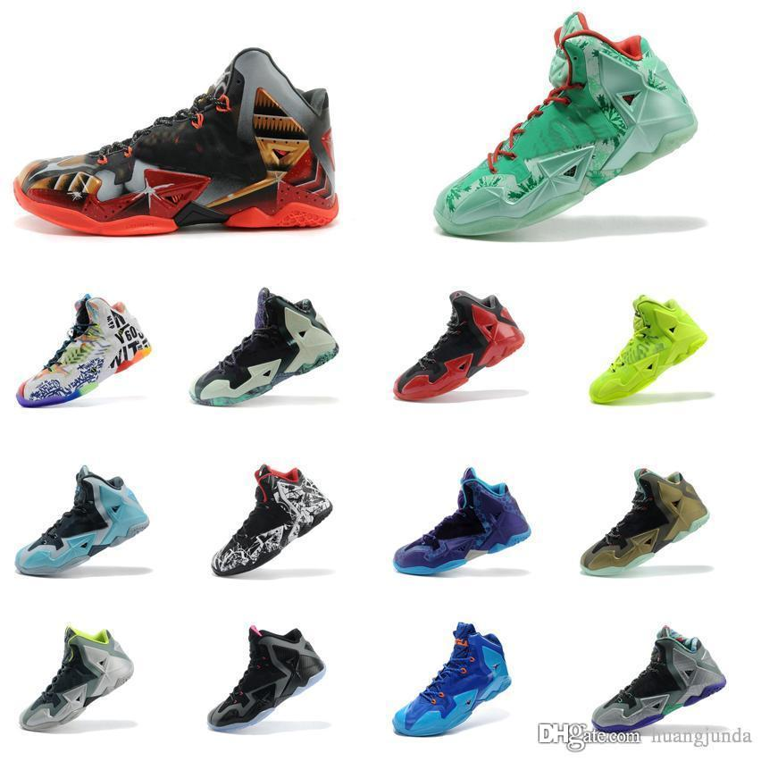 brand new 8bcf1 a8b2c 2019 Mens What The Lebron 11 XI Basketball Shoes Easter BHM Christmas Blue  MVP Championship Black Red Silver Youth Kids Sneakers Boots With Box From  ...