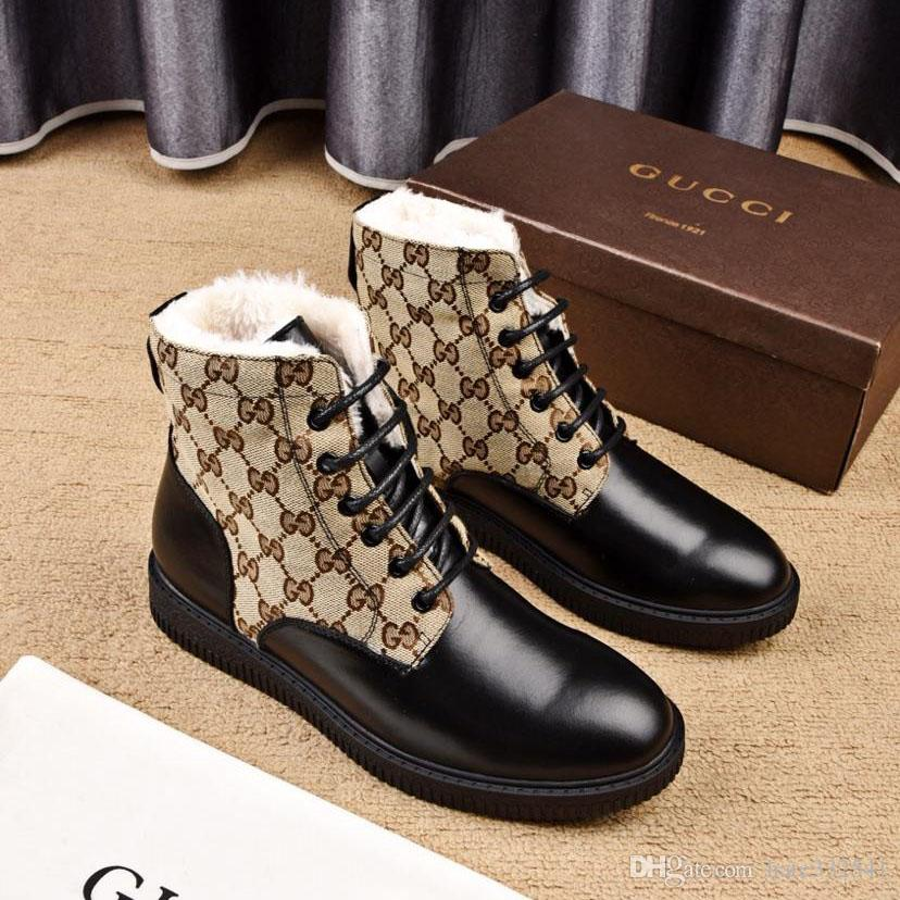 51e2959ad2c5 Italy New 2019 Mens Shoes  Sports With Origin Box Genuine Leather Lace Up  Design Plus Velvet Style Winter Shoes Waterproof Men Sneakers Sale Black  Boots ...